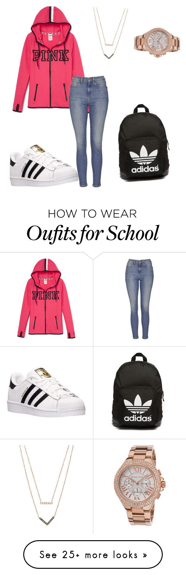 """School"" by emmaleeb-i on Polyvore featuring Topshop, adidas, adidas Originals, Michael Kors, women's clothing, women's fashion, women, female, woman and misses"