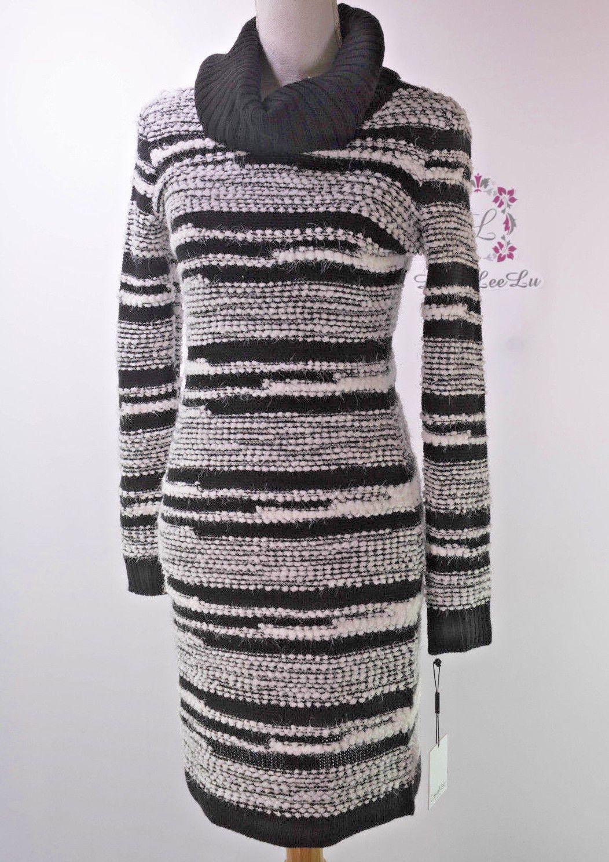 ec80c6516a Calvin Klein Eyelash Stripe Cowl Neck Sweater Dress Cd5W1K4N Size S M L Xl