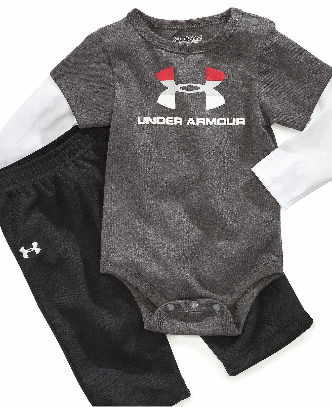 213da8731d Under Armour Baby Set, Baby Boys Bodysuit and Pants Set - Kids ...