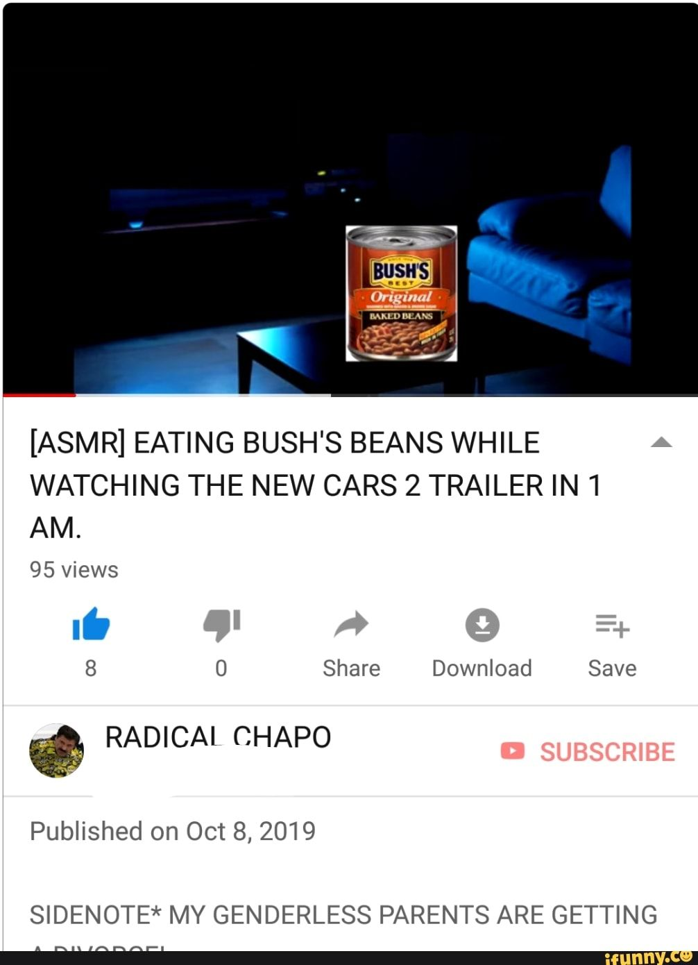 Asmr Eating Bush S Beans While Watching The New Cars 2 Trailer