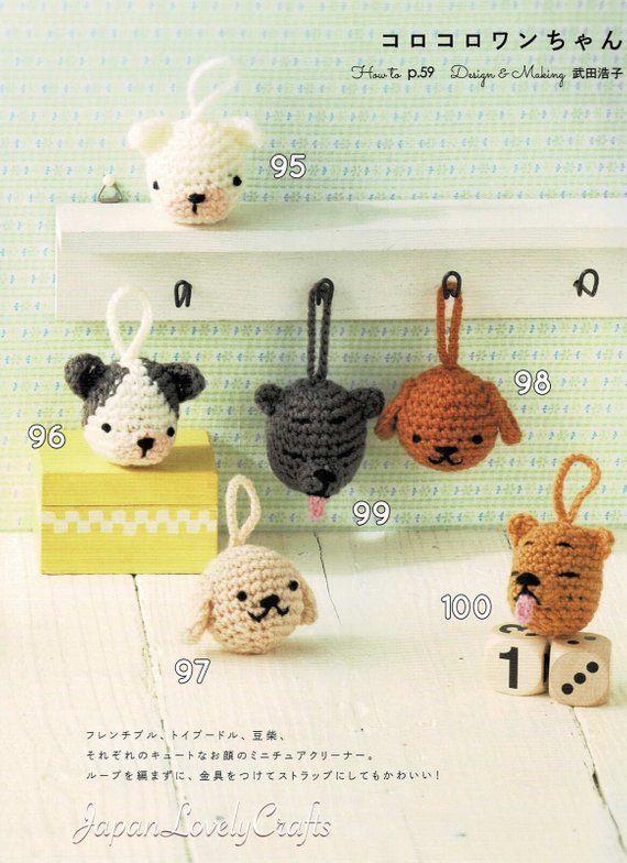 Kawaii Dog Eco Scrubber Amigurumi Patterns Japanese Crochet Pattern
