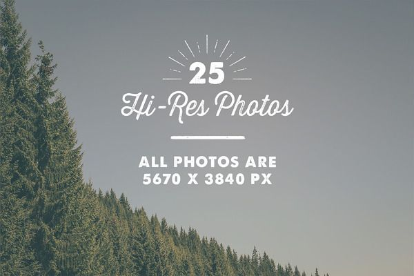 25 x Mountains Photography Pack - Web Elements - 3
