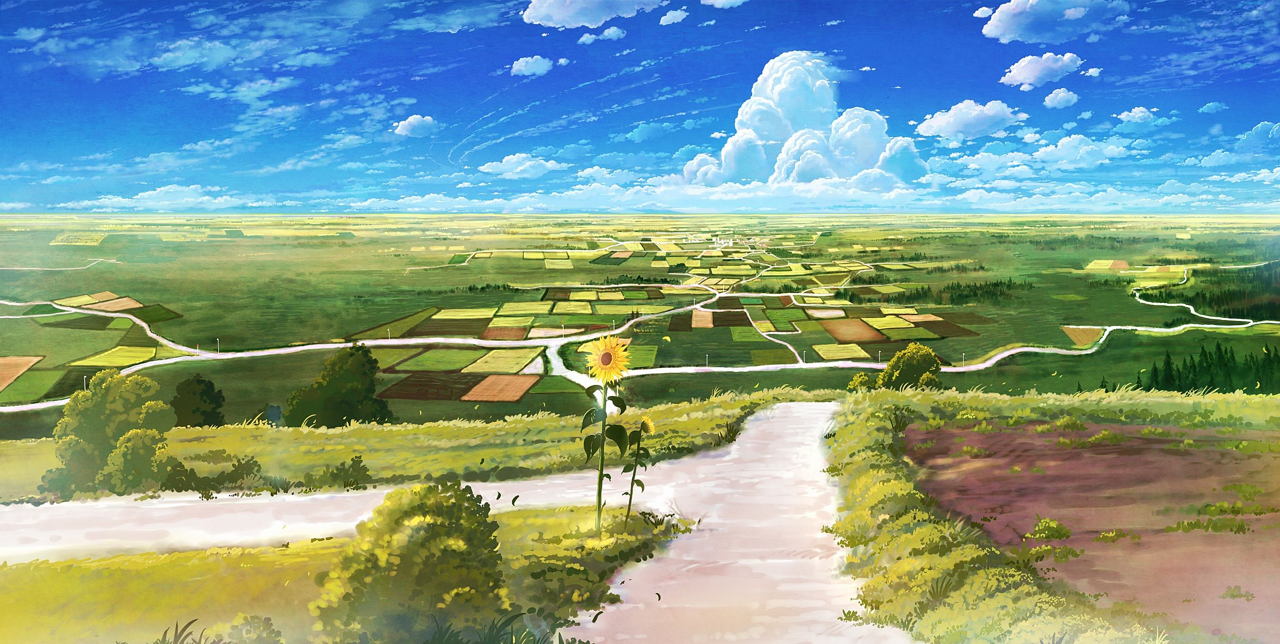 Nature Anime Scenery Background Wallpaper Resources Wallpapers