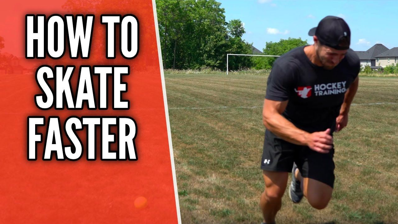 How To Skate Faster Hockey Speed Training Hockey Training Hockey Drills Hockey