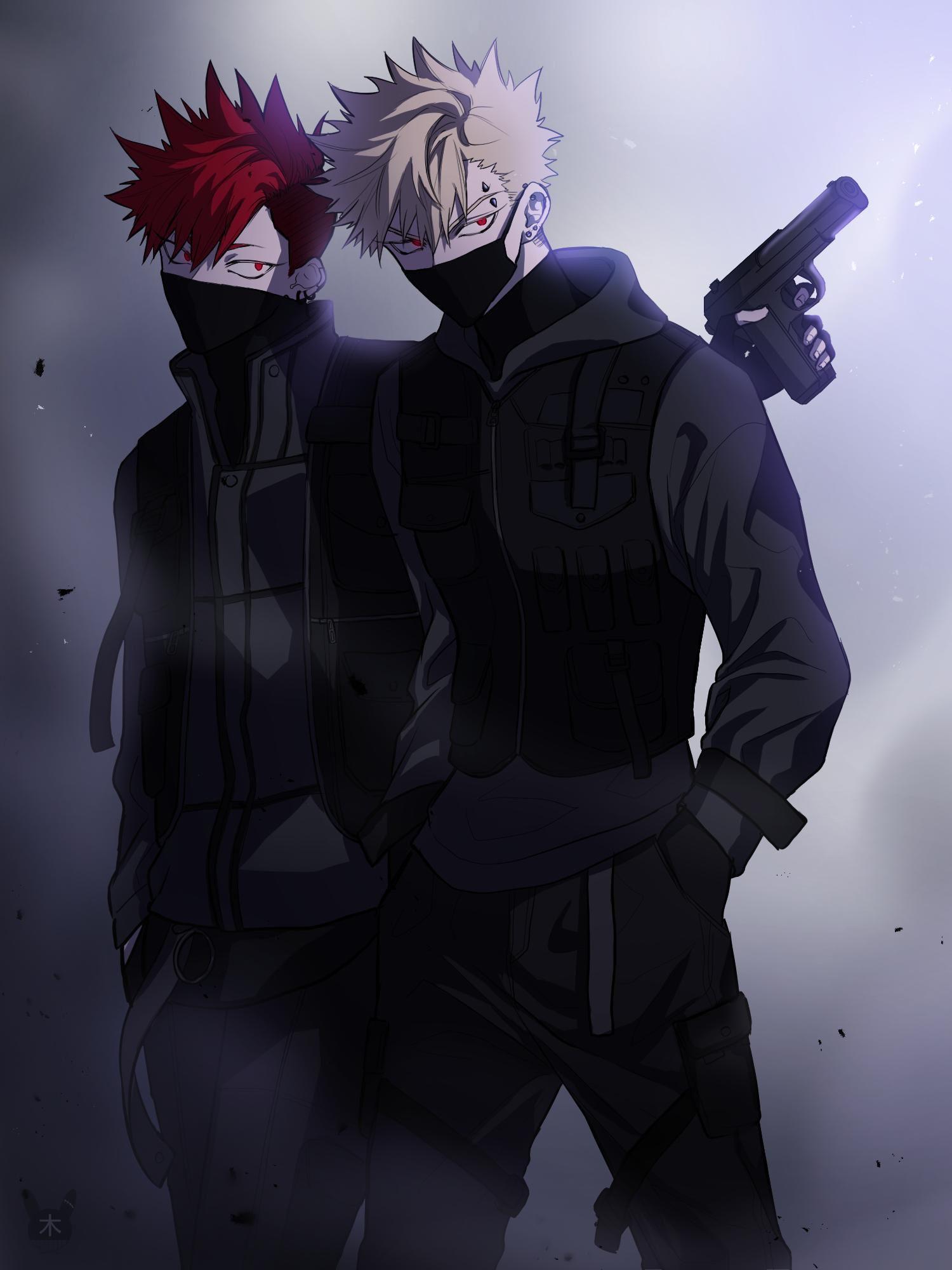 Katsuki Bakugou And Kirishima Eijirou Boku No Hero Academia