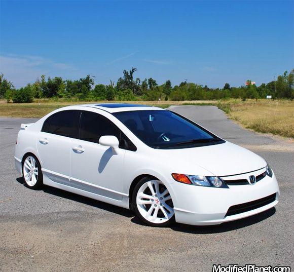 2007 Honda Civic Si Sedan With Oem Factory White Powder Coated Wheels Honda Civic Si 2007 Honda Civic 2007 Honda Civic Si