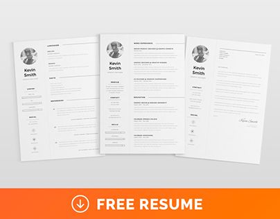 Free Clean  Minimal Resume Template  Calligraphy