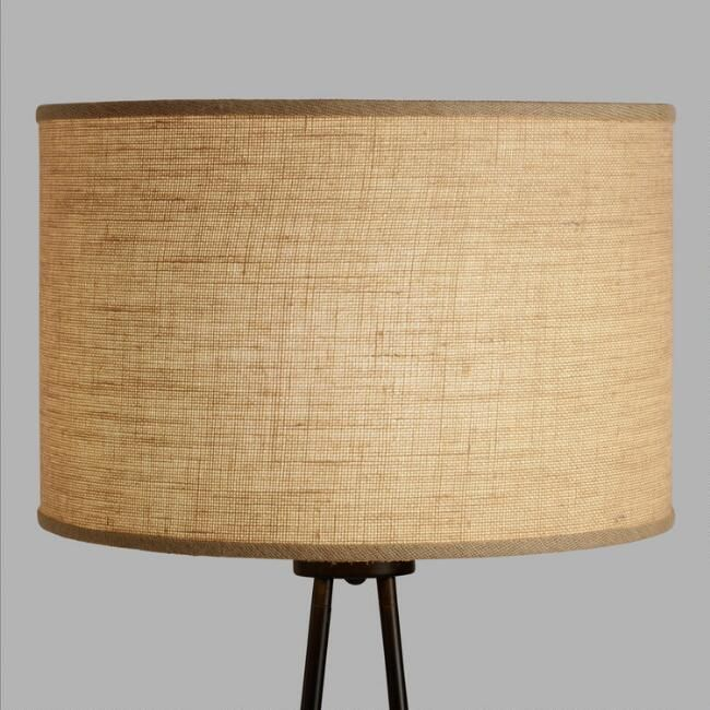 Natural burlap drum floor lamp shade v1 hanas room pinterest natural burlap drum floor lamp shade v1 aloadofball Image collections