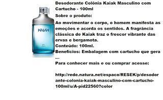 Rede Natura Espaco Resek: Desodorante Colônia Kaiak Masculino com Cartucho -...