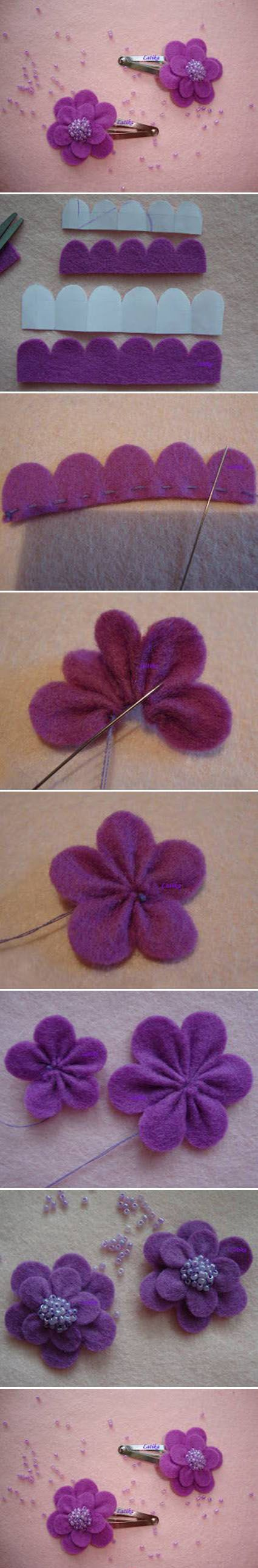 Purple Hair Clip   DIY Crafts Tutorials