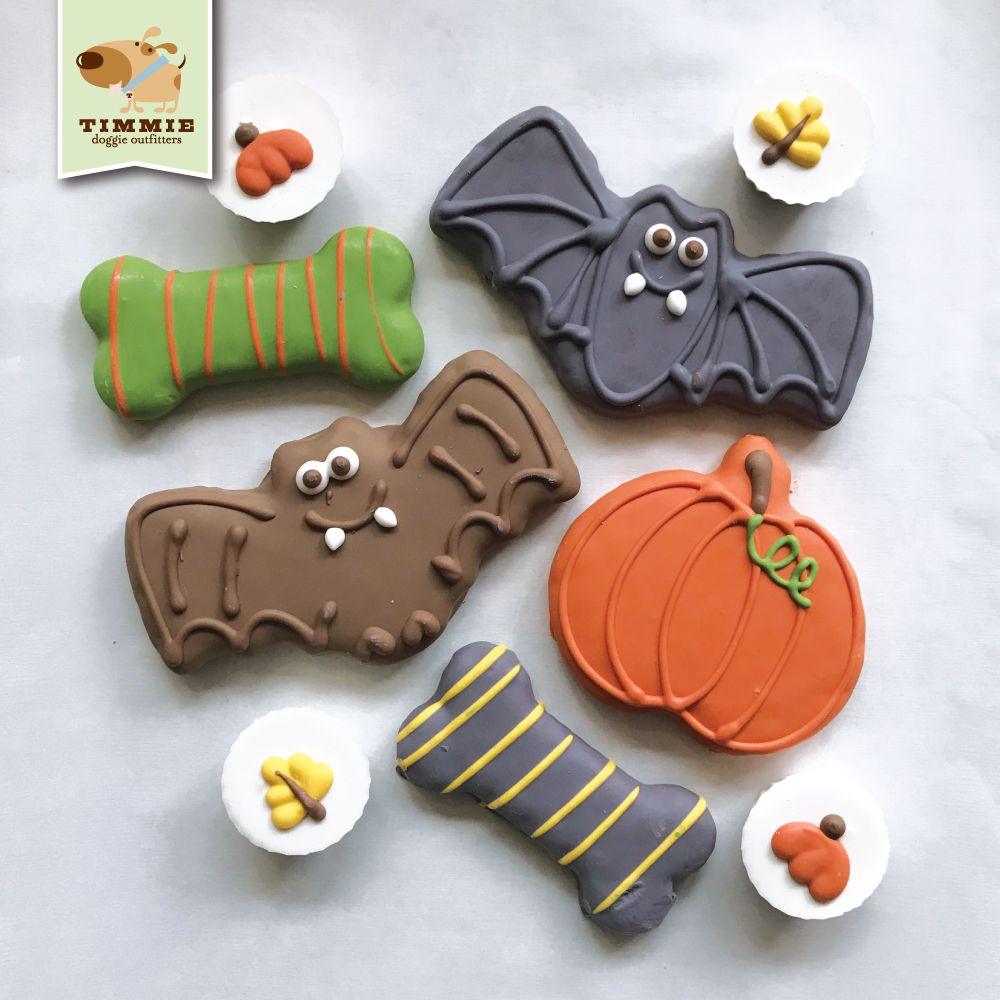 Just got in these scary cute Bosco and Roxy's Halloween