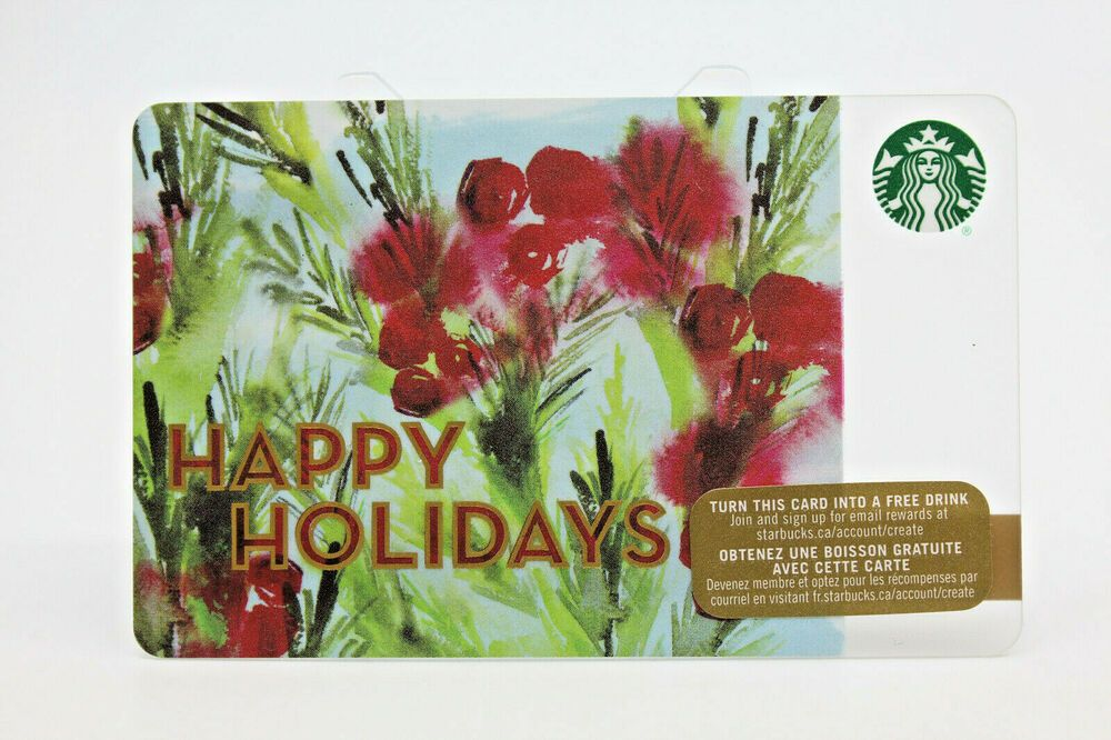 Starbucks coffee 2015 gift card happy holidays special