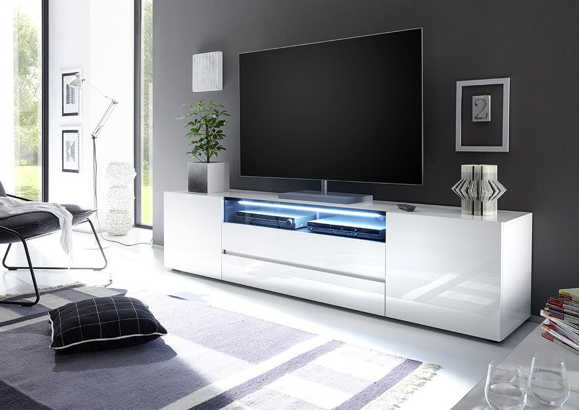 Vicenza 203 Lowboard Tv Stand Two Doors Two Drawers