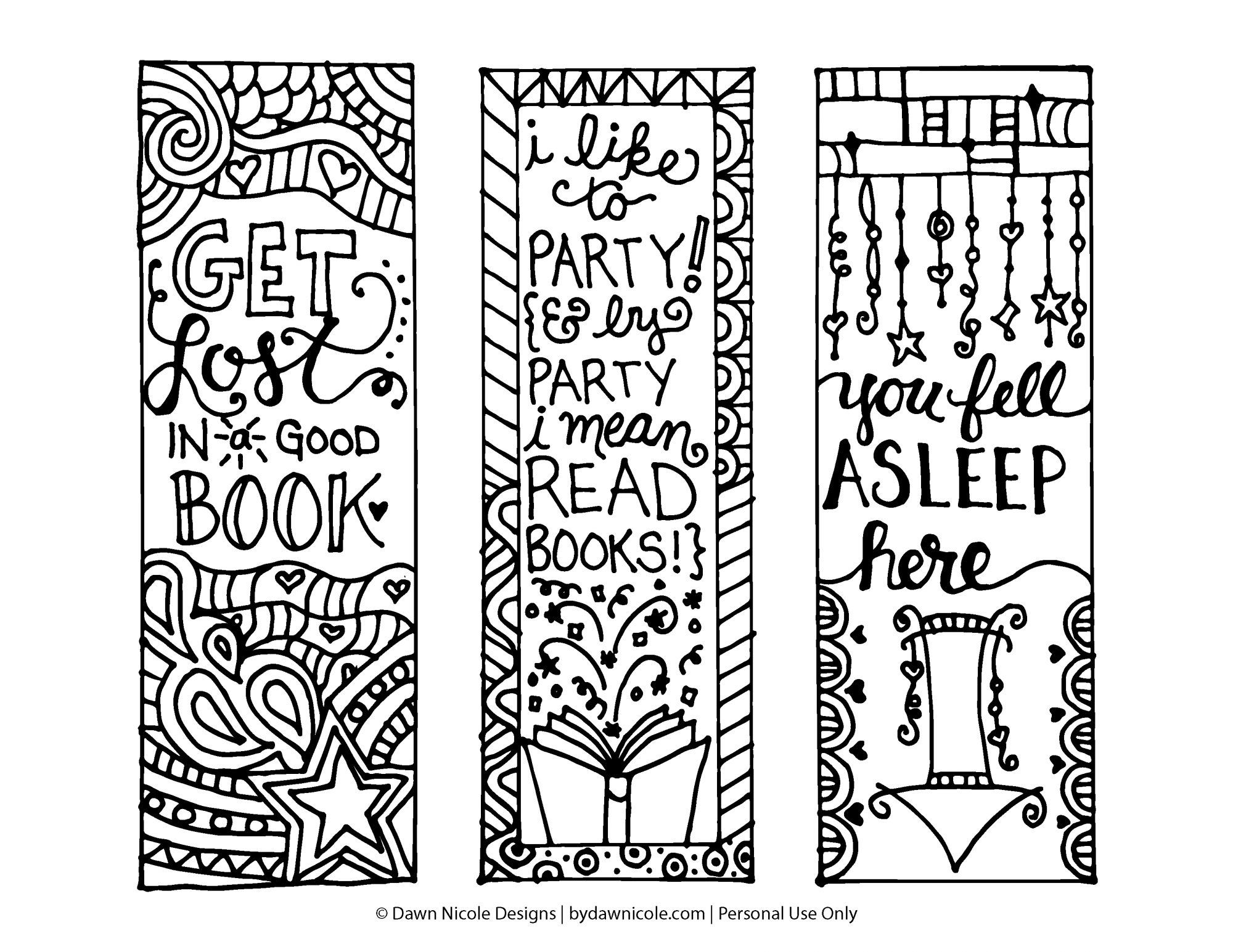 44+ Bookmark Coloring Templates Picture HD
