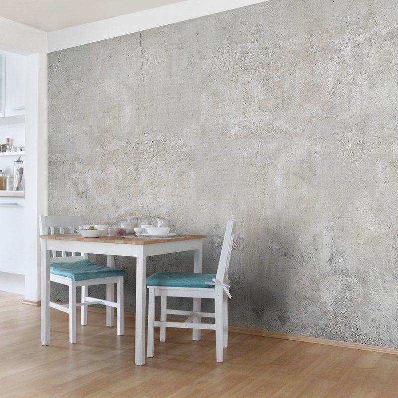 East Urban Home Concrete Effect Semi Gloss Wallpaper Roll Wayfair Co Uk Concrete Wallpaper Home Decor Recycled Furniture