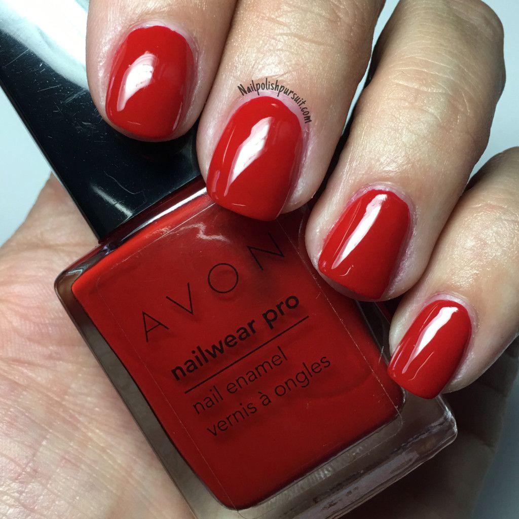 Real Red by AVON Nailwear Pro | Nailpolishpursuit.com | The Polished ...