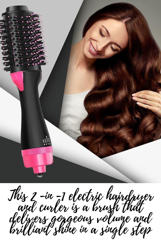 Multifunction 2 In 1 Hair Dryer Rotary Brush In Hair And Volumateur Hair Styler Hair Styling Iron With Rotation To Curl Rotating Hair Brush Hair Dryer Brush Hair Dryer