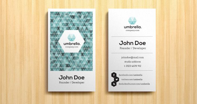 Vertical Name Card Google Search Web Design Pinterest - Business card vertical template