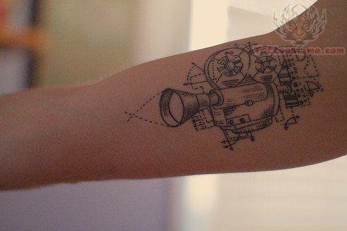 cinema tattoo video camera tattoos pinterest tattoo videos cinema and cameras. Black Bedroom Furniture Sets. Home Design Ideas
