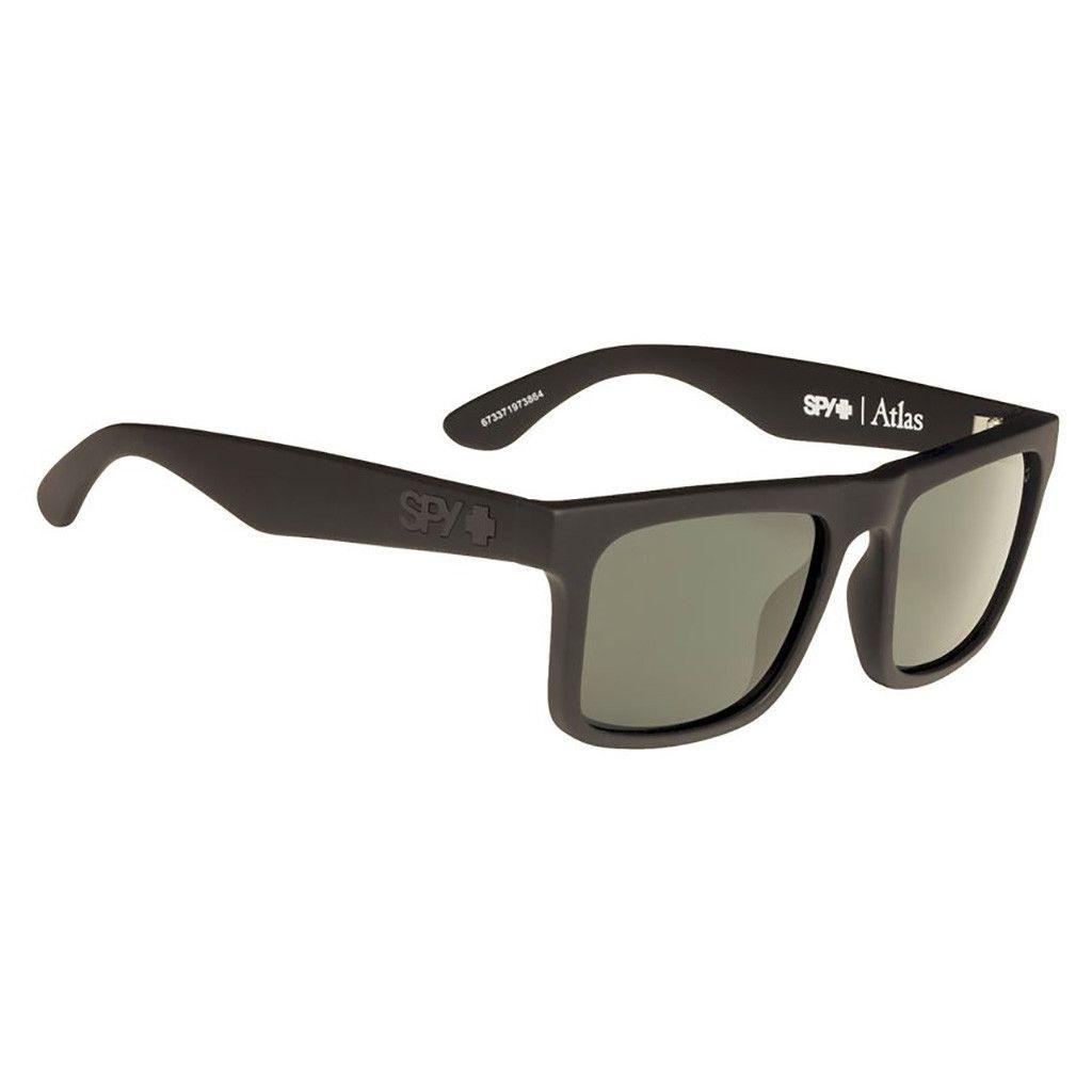 Sunglasses Atlas Soft Matte Black Happy Green Polar