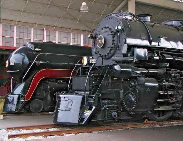 N & W steam power at the Virginia Railroad Museum, Roanoke, VA.