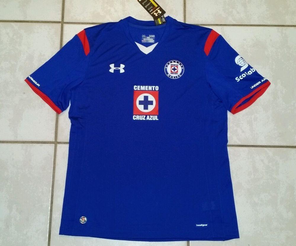 0c9d88fdcd4 NWT UNDER ARMOUR Cruz Azul Mexico Soccer Jersey Men s XL  UnderArmour   Cruzeiro