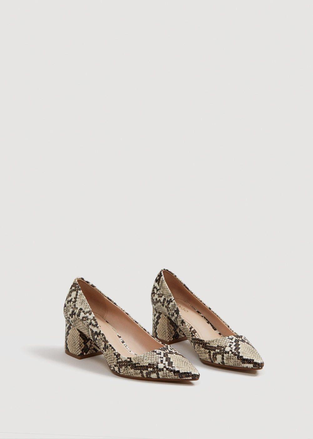 f7ed968e0fc Snakeskin print heeled shoes - Women in 2019   wardrobe   Snake skin ...