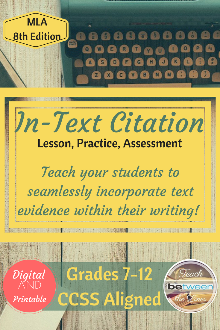 Thi Unit Include A Google Slide Powerpoint Presentation To Teach The Mla 8th Edition Rule For In Text Citation P Essay Outline Teaching Writing Tips Cite Book Chapter 8