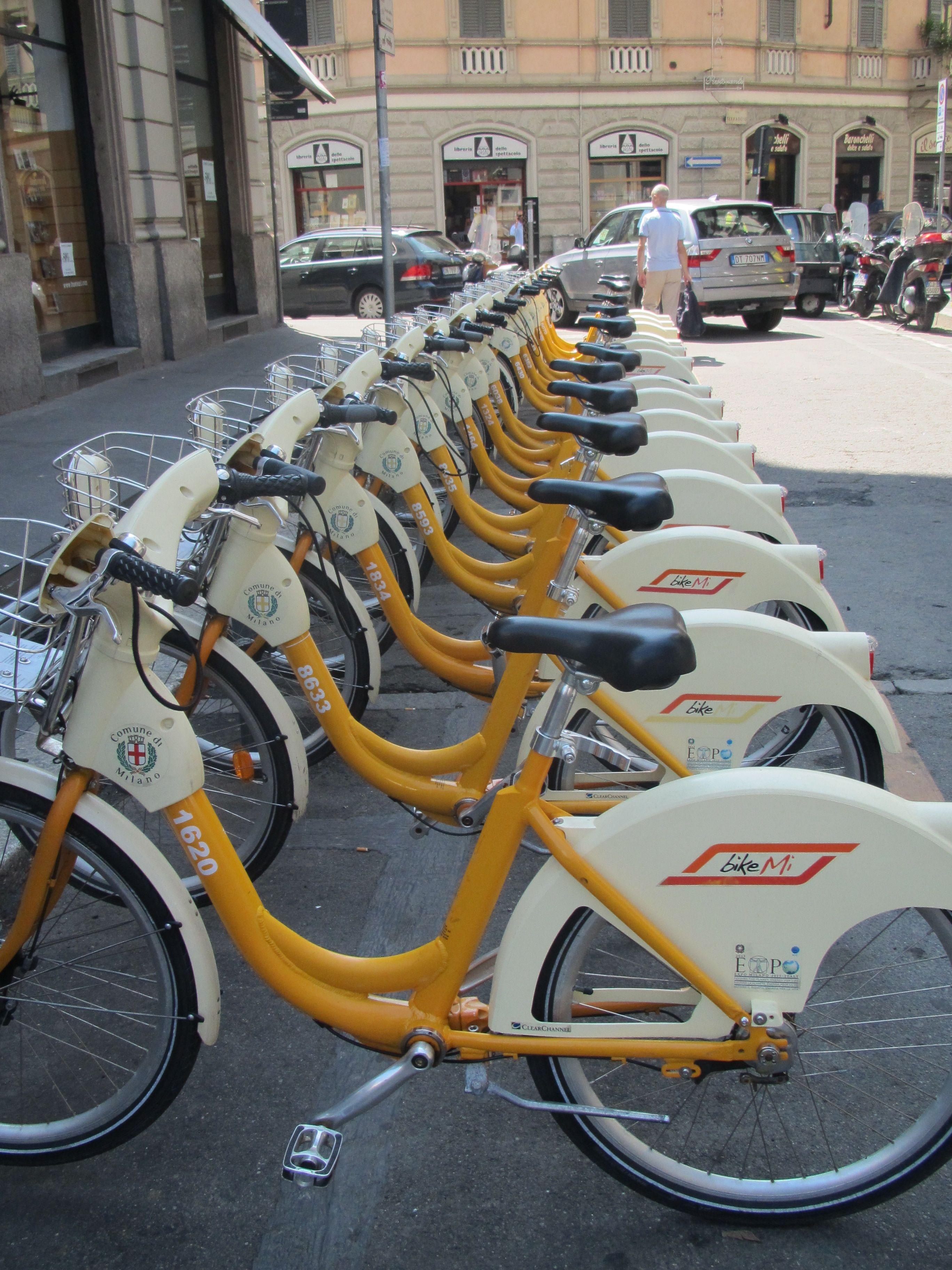 Bicycle sharing system in milan genius bike share