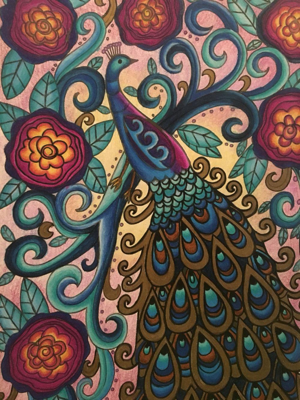 Finally my secret garden peacock coloring pinterest