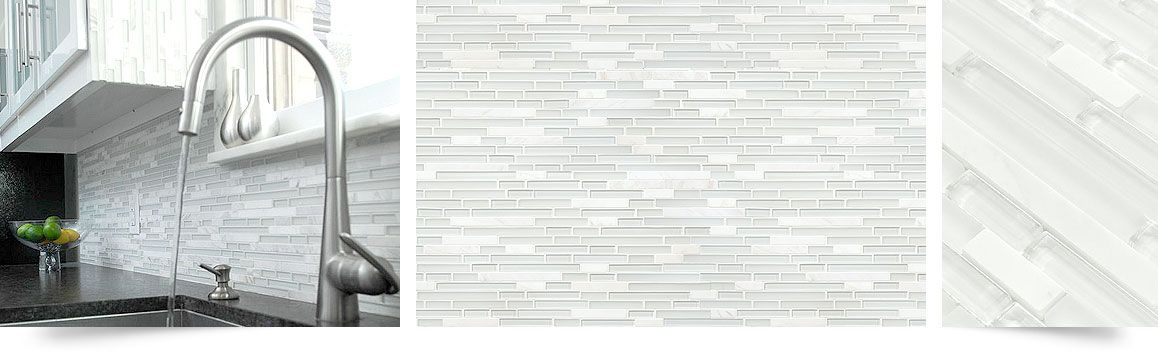 Elegant White Marble Glass Kitchen Backsplash Tile Kitchen Tiles Backsplash White Tile Kitchen Backsplash Backsplash