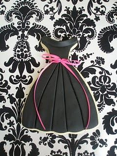 Little black dress cookies!