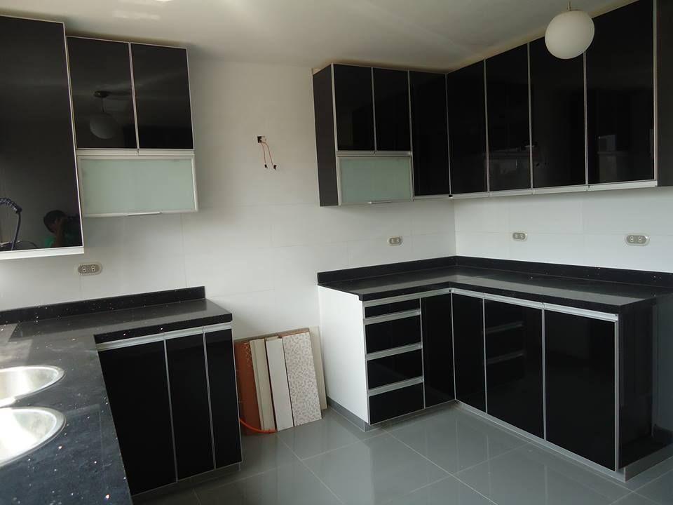 Modulo de cocina en melamina tropical y puertas en mdf - Cocinas modulares ...