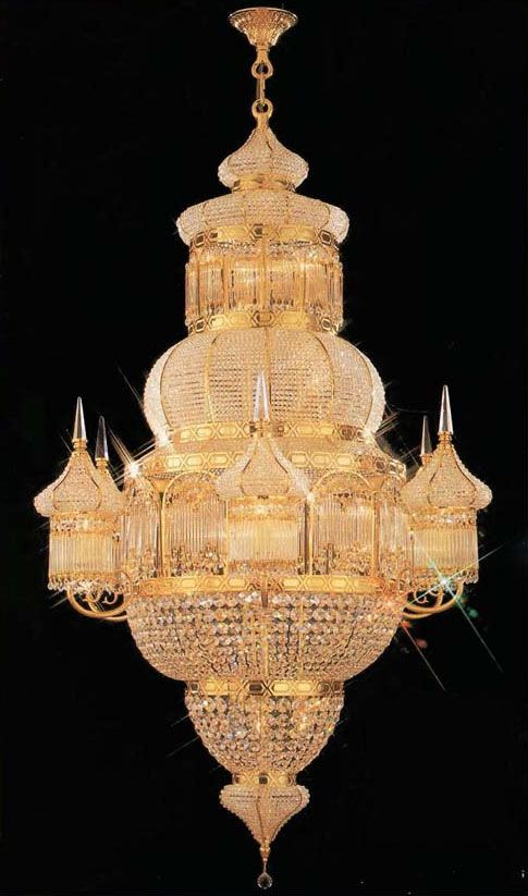100% CRYSTAL CHANDELIER, this Empire chandelier is characteristic ...
