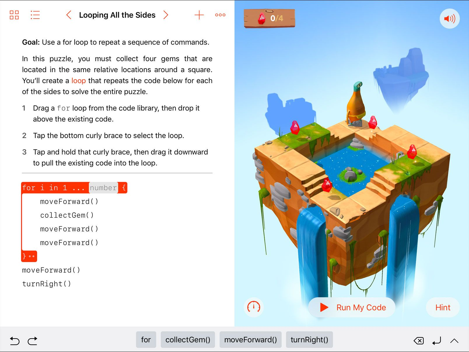 Swift Playgrounds Coding, Build an app