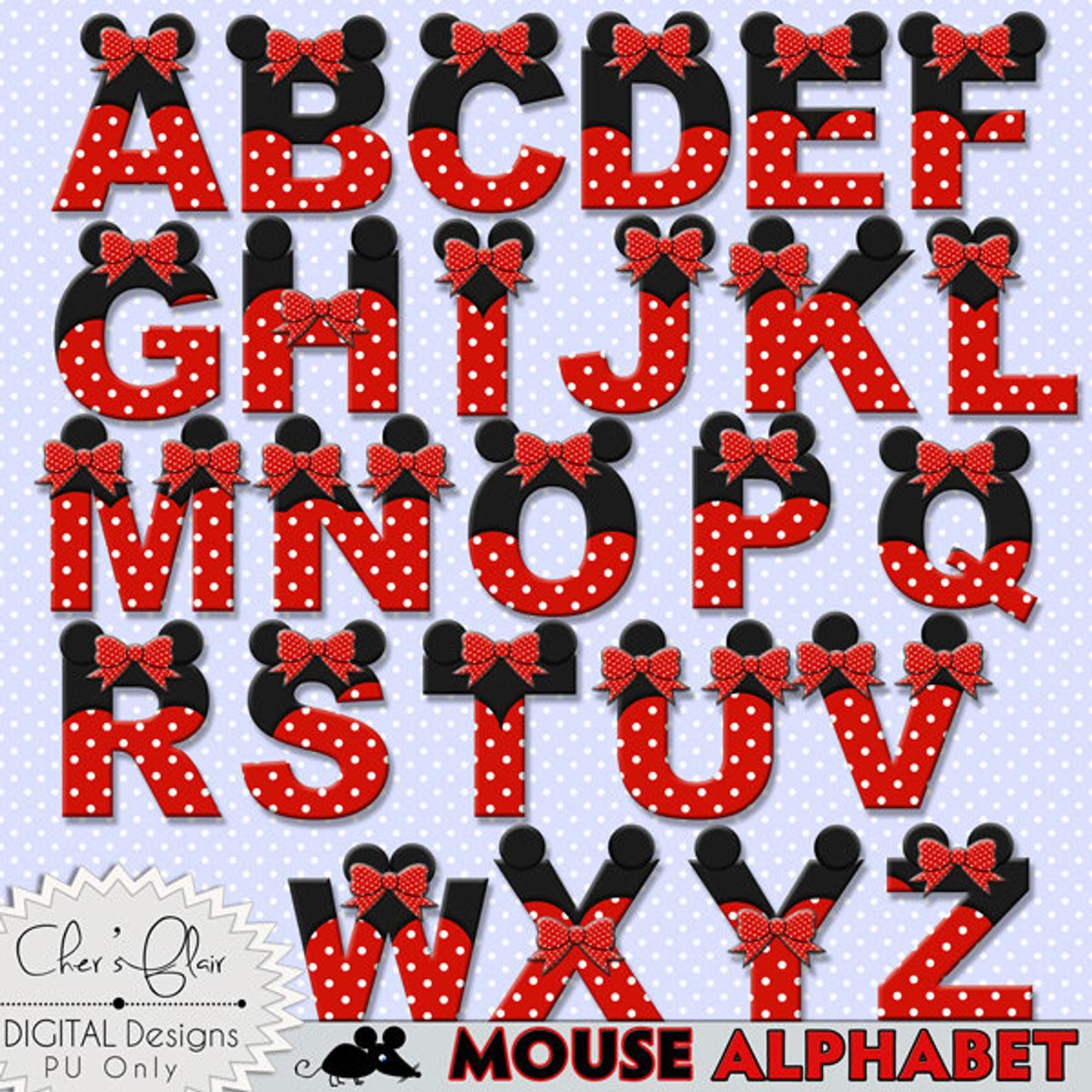 Mouse Alphabet Letters