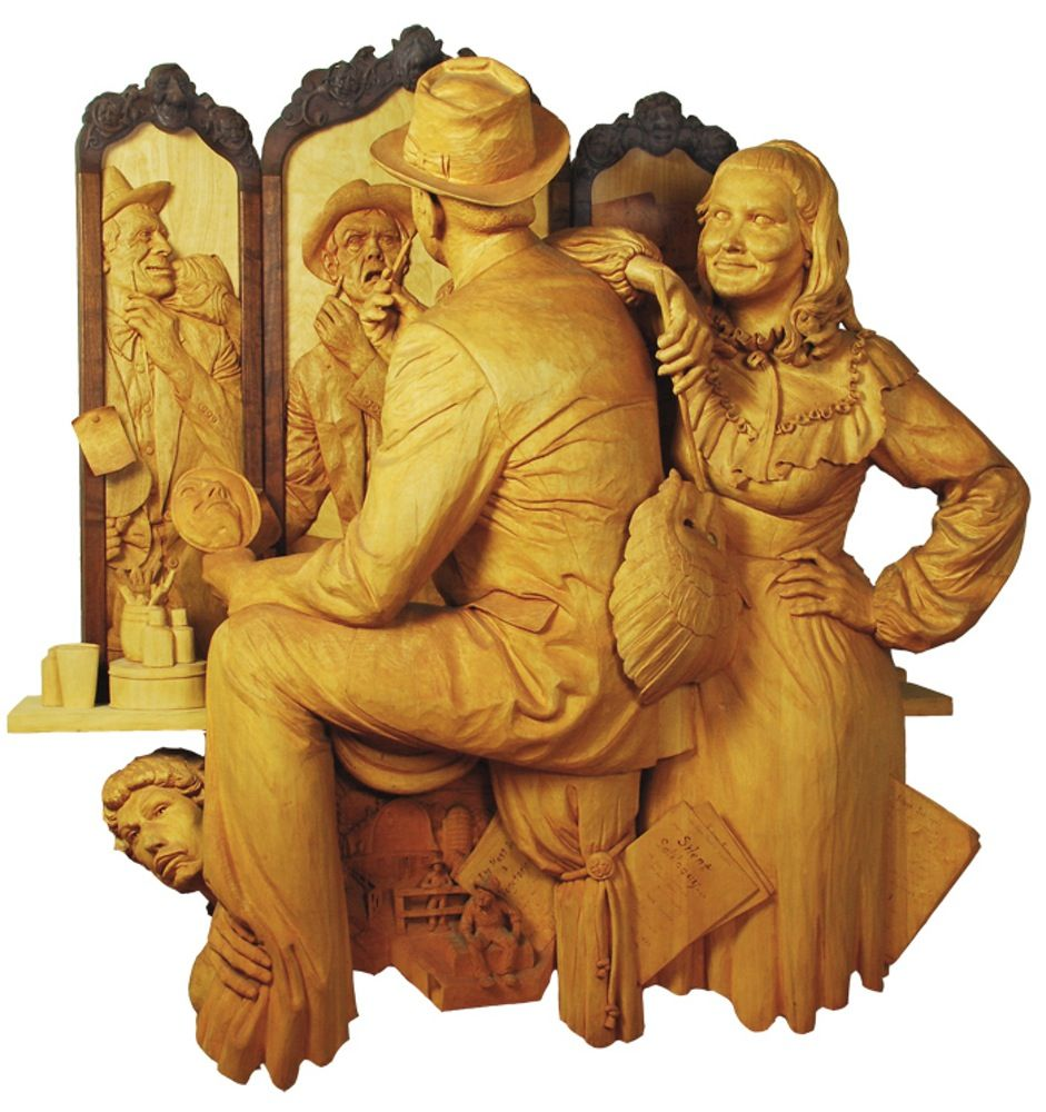 Fred's past work | Carvings | Art, Open art, Wood carving