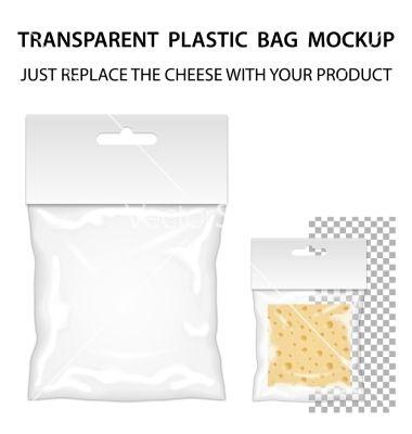 Download Transparent Plastic Bag Mockup Ready For Your Vector Image On Vectorstock Bag Mockup Plastic Bag Packaging Template