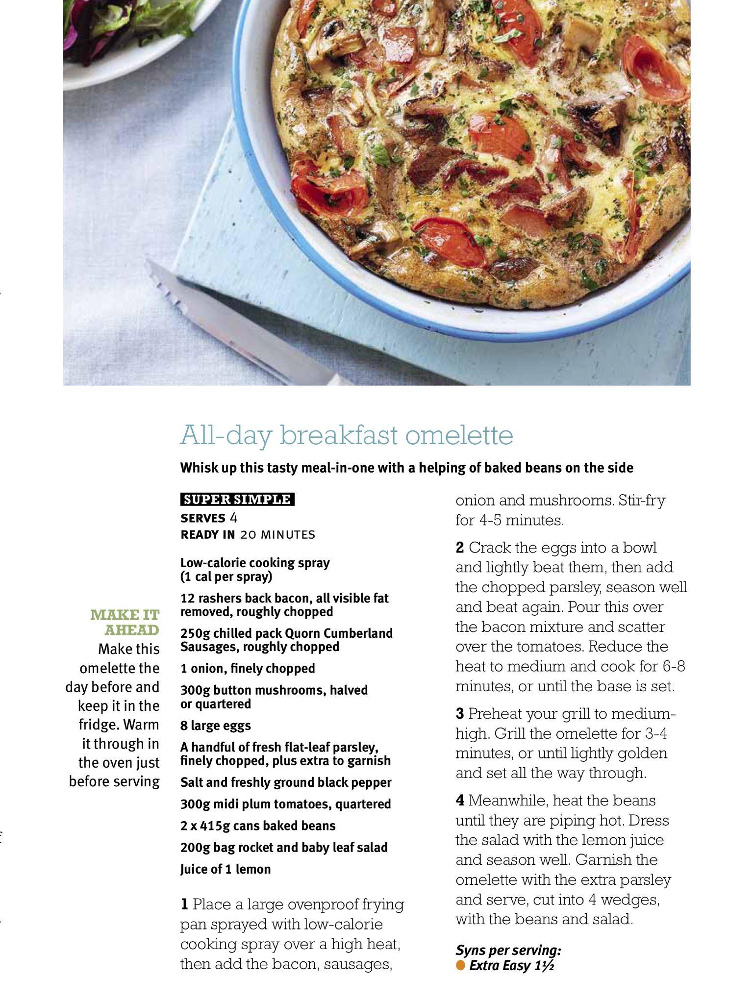 All day breakfast omelette slimming world breakfastbrunch food forumfinder Gallery