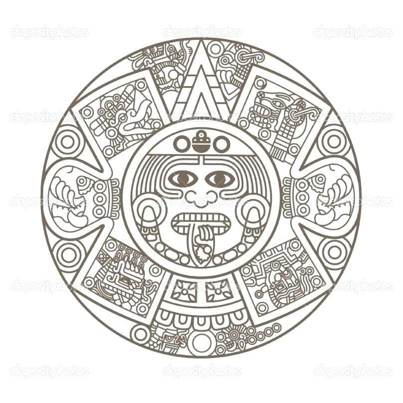 Aztec Calendar Coloring Page C1911 Calendar Coloring Page Tattoo Books Worth Reading Regarding Pattern Coloring Pages A Aztec Calendar Mayan Calendar Aztec Art