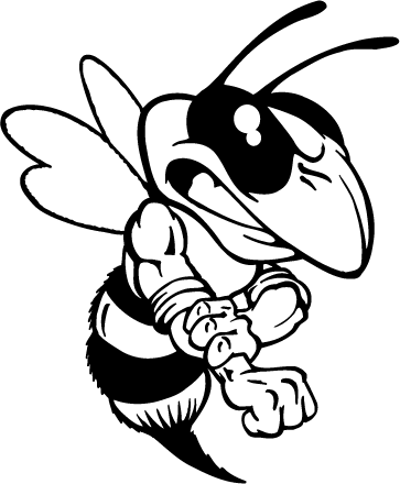 Hornet Yellow Jacket Bee Mascot Decal Sticker Atv Yellow