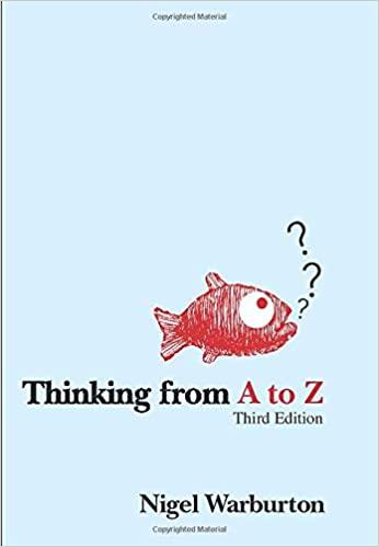 Amazon Com Thinking From A To Z 9780415433716 Warburton Nigel Books Philosophy Books Warburtons Good Books