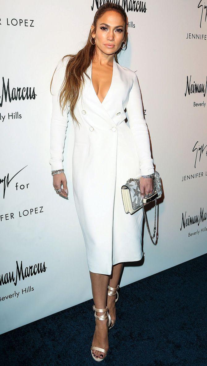 Jennifer Lopez Giuseppe Zanotti Heels Fashion Tuxedo Dress [ 1185 x 669 Pixel ]