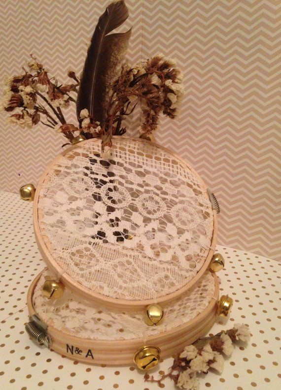 Tambourine, Lace Tambourine, Boho Wedding, Set Of 10