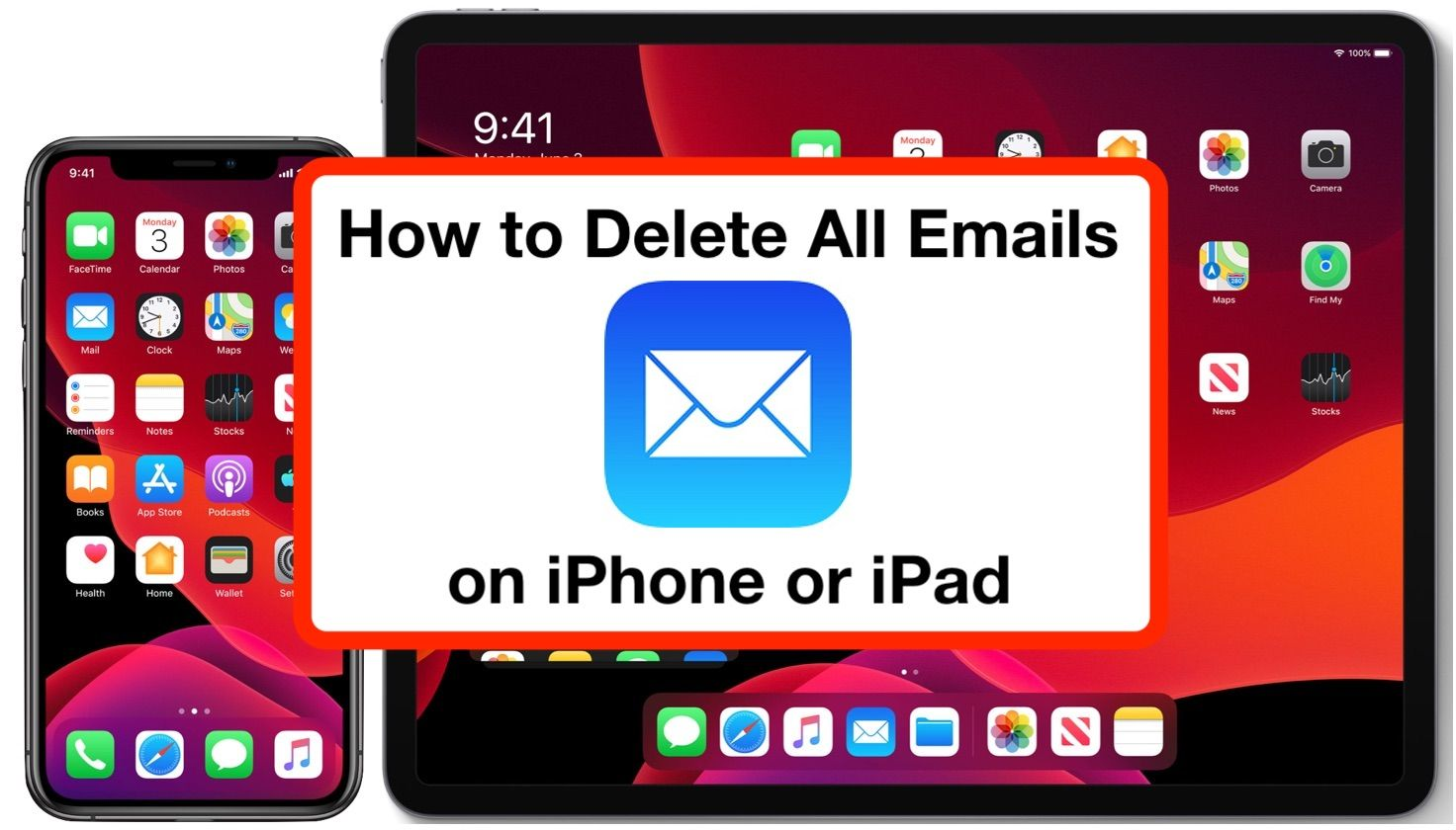 How to delete all email on iphone ipad with ios 13 in