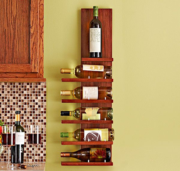 Combine convenient storage with wall art. This sleek six-bottle wine ...