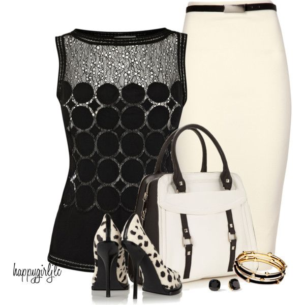 A fashion look featuring Karen Millen tops, Jane Norman skirts and Alexander Wang pumps. Browse and shop related looks.