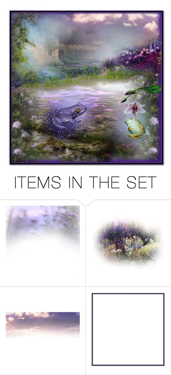 """""""Kiss A Purple Frog"""" by funkyjunkygypsy ❤ liked on Polyvore featuring art"""
