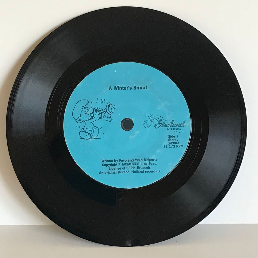 A Winters Smurf Holland Recording Starland Music 33rmp Vinyl Record Vinyl Records Vintage Vinyl Records Records