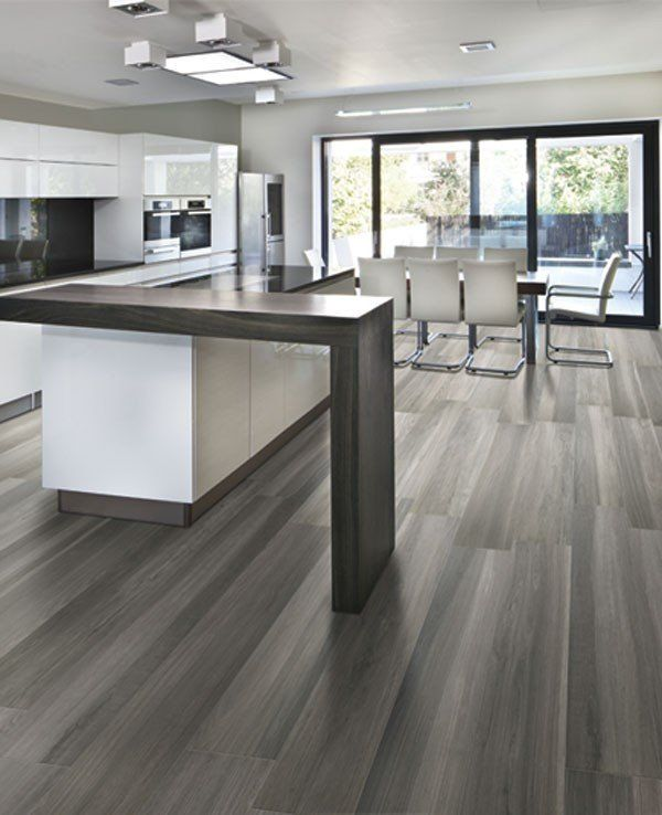 Gray Wood Flooring Kitchen: Pacific Northwest, Square Feet And Birth